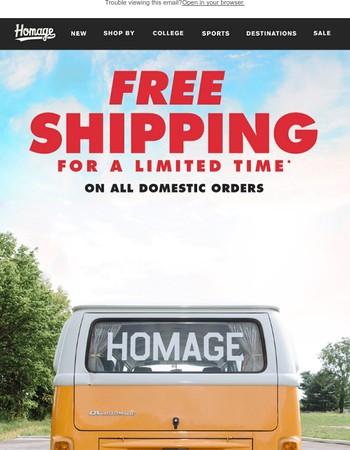 Free Ship Ends Tomorrow!