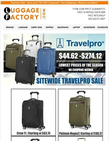 Travelpro Blowout Sale Ending Soon - Shop Now!
