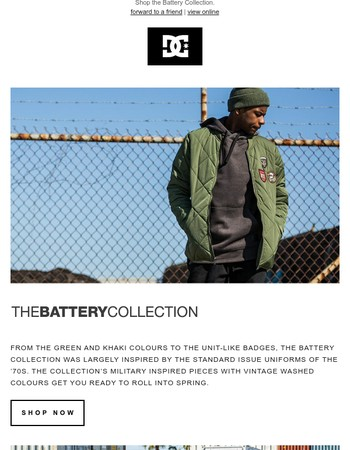 The Battery  Collection | Inspired by the standard issue uniforms of the '70s.