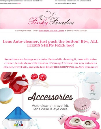 Lenses easy to Clean and Free to ship