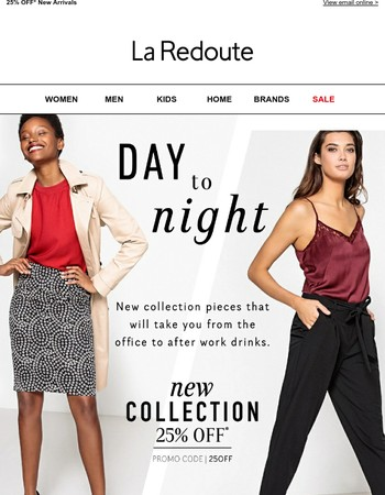 Dazzling day-to-night outfits