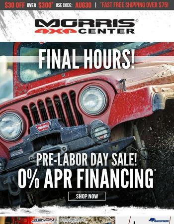 CJ - Offer Ends Tonight - 0% APR Financing!