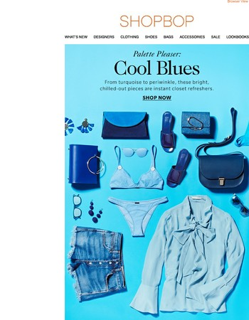 Chill out your closet with cool blues