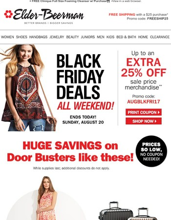 Final Day: Don't miss Black Friday Door busters!