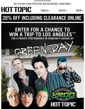 Win a trip to see Green Day in L.A.!