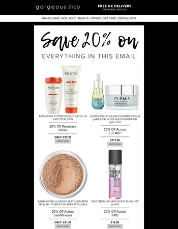 20% Off Everything in this Email!