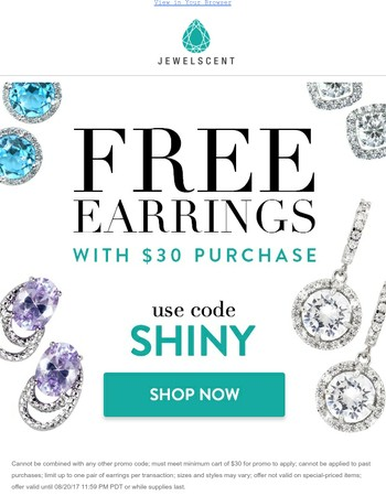 Free Earrings Ends at Midnight!