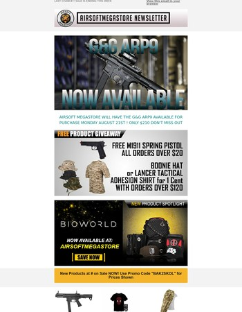 G&G ARP9 AVAILABLE ON AIRSOFTMS