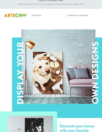 All Custom Canvases 30% Off w/ Free Shipping!