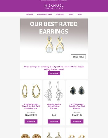 Explore our most popular earrings!