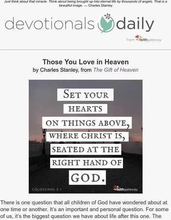 Those You Love In Heaven