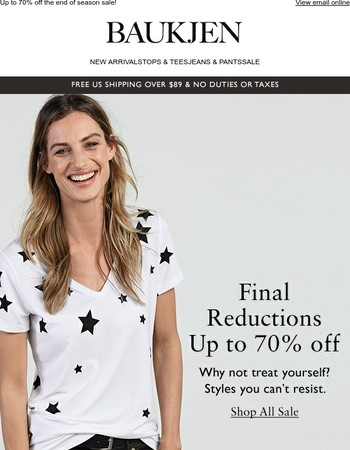 Final reductions this way ➡