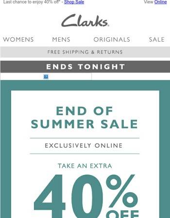 Your final chance to enjoy 40% off
