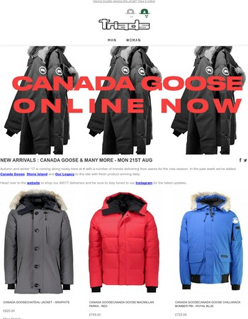 NEW ARRIVALS : CANADA GOOSE & MANY MORE