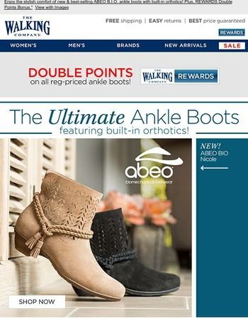 NEW for FALL! Ultimate Ankle Boots with Customized Comfort + Style | REWARDS Member Bonus