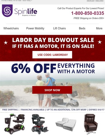 Labor Day Blowout Sale - Shop Today!