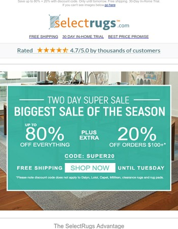 Our BIGGEST Sale of the Season starts... NOW!