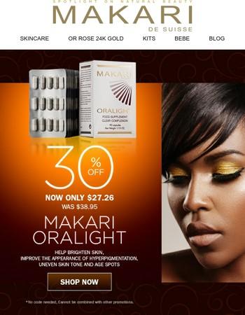 Save 30% on Makari Oralight | Shop Now