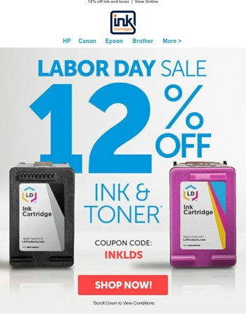 Get 12% off with our Labor Day Sale!