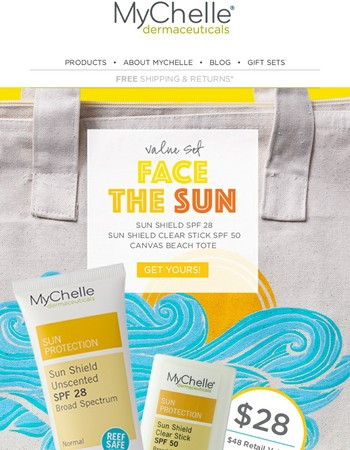 Don't let the sun set on our Limited Edition Face the Sun Set!
