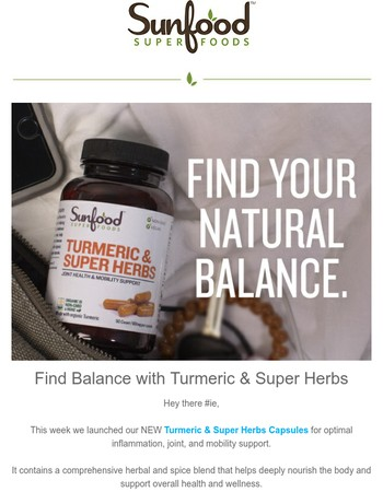 Nature's Answer to Balance Inflammation