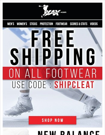 Free Shipping On Cleats! Pick Up A New Pair Of Cleats For Fall Ball.