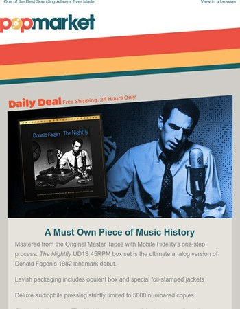 "Donald Fagen's Classic ""The Nightfly"" on Limited Edition Vinyl"