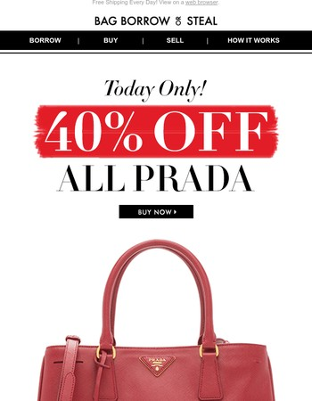All PRADA 40% off | Today ONLY!