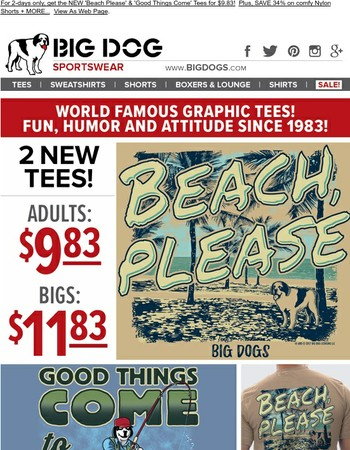 2 NEW Graphic Tees - Just $9.83! | 34% OFF Shorts + MORE Anniversary DEALS...