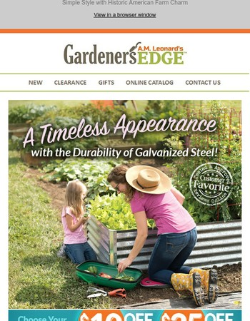 Save up to $25 on Our Best-Selling Raised Beds!
