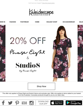 Enjoy 20% Off Phase Eight and Studio 8!