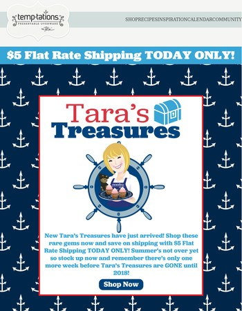 TODAY ONLY! $5 Flat Rate Shipping and NEW Tara's Treasures!