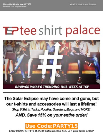 Tee Shirt Palace Newsletter