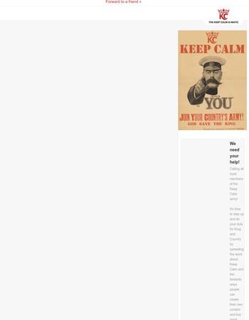 Keep Calm Wants You!