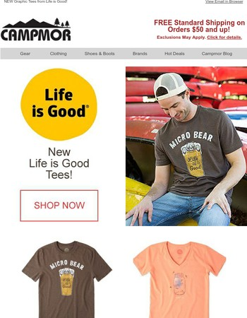 NEW Graphic Tees from Life is Good!