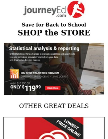 Pick Up Savings on SPSS, Adobe + more!
