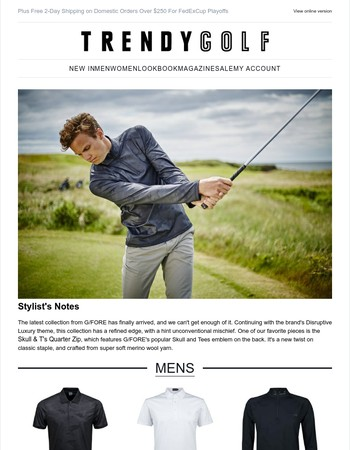 Disruptive Luxury | New Season Arrivals from G/FORE