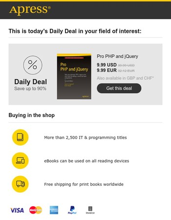 Today's Daily Deal from Apress