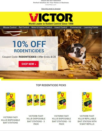 10% Off Mouse Poisons & Bait Stations