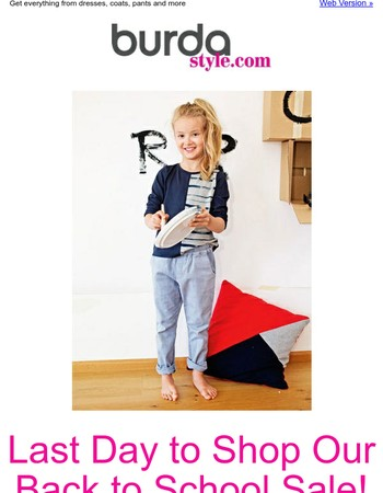 Don't Miss Our Back to School Sale with Patterns for $2.99