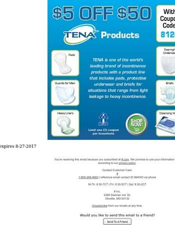 Save Big on Tena! ★