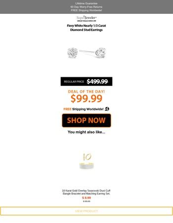 Unbelievable Price For Diamond Stud Earrings