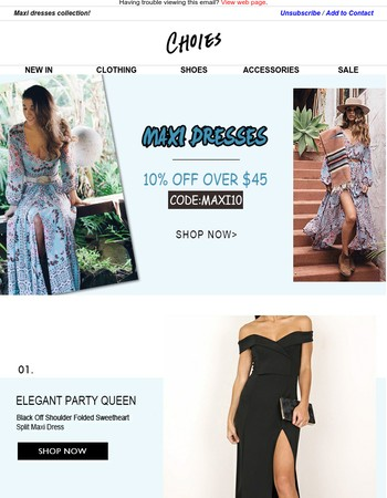 LOVE MAXI | Start From $9.9 + Extra 10% OFF