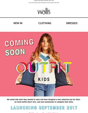 Coming soon... OUTFIT KIDS!