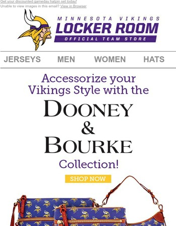 Show Your Pride With Our Vikings Dooney & Bourke Collection!