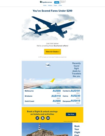 ! Mary — Just announced: You're getting THESE flight deals for under $299 from Bucharest!