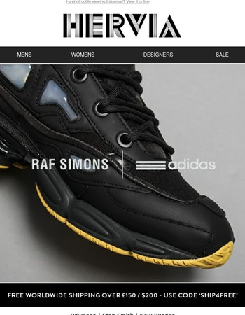 Raf Simons x Adidas Ozweego & new styles have arrived