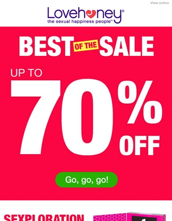 It's the Best of the Sale, straight to your inbox!