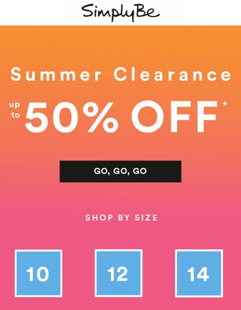 Hey, Up to 50% off in clearance