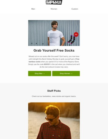 Socks Free with Every Order